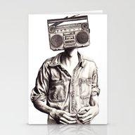 Stationery Cards featuring Radio-Head by KatePowellArt