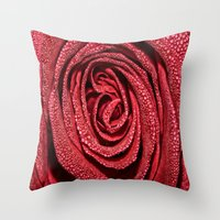 Raindrop Rose Throw Pillow