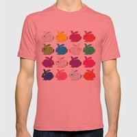 Rabbit Mens Fitted Tee Pomegranate SMALL
