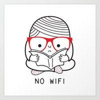 No wifi Art Print