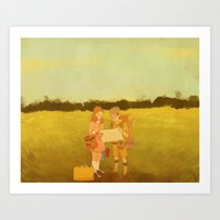 moonrise kingdom Art Prints featuring Moonrise Kingdom by aiemmaes