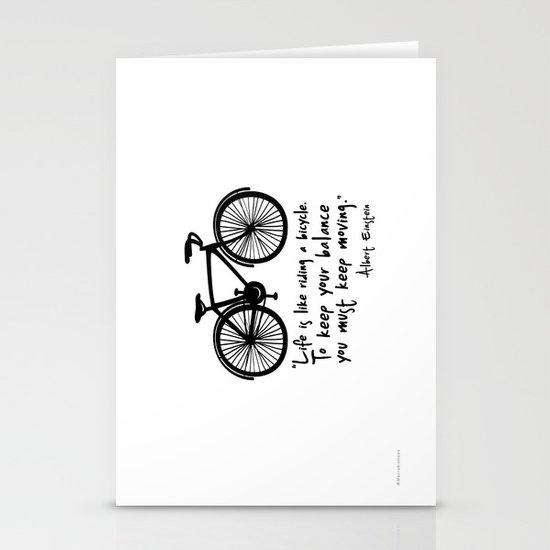 Life is like riding a bicycle... Stationery Card