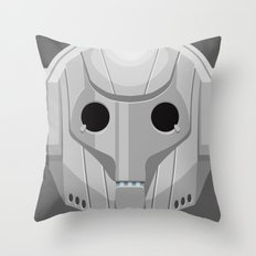 Cyberman - Doctor Who Throw Pillow