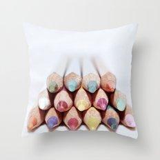 Pencils  Throw Pillow