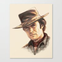 Clint Eastwood Tribute Canvas Print
