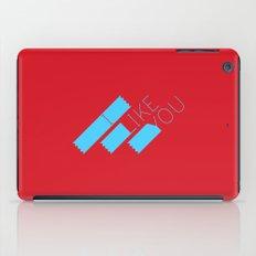 I Like You Graphik: Blue Type iPad Case