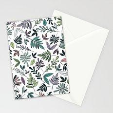 Black Border Leaves  Stationery Cards