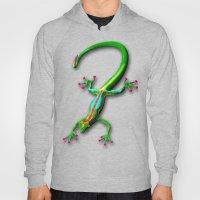 Gecko Lizard Rainbow Col… Hoody