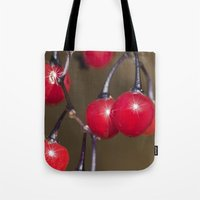 Red Berry Sparkle Tote Bag