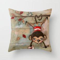 I Love You, MOnkey Throw Pillow