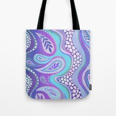 Patterned Purple Paisley Tote Bag