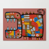 Dog Hippo Canvas Print