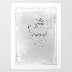 One line David Lynch Art Print