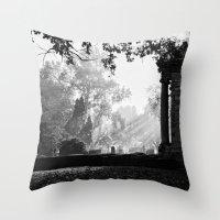 Morning At Greenlawn Throw Pillow