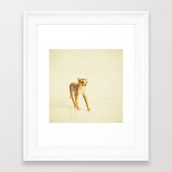 Catwalk Cheetah Framed Art Print
