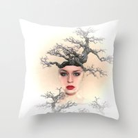 Earth Queen Throw Pillow