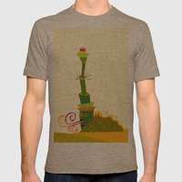 Animaveggie Mens Fitted Tee Tri-Coffee SMALL