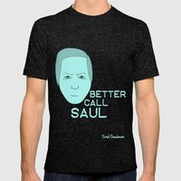 Breaking Bad - Faces - Saul Mens Fitted Tee Tri-Black SMALL