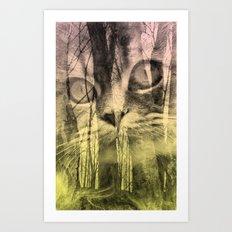 Les Chats, Dans La Forêt Art Print