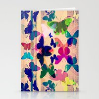 Butterflies on board Stationery Cards