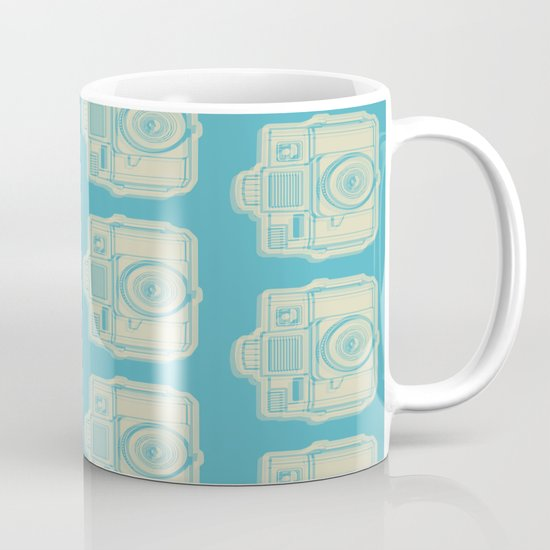 I Still Shoot Film Holga Logo - Turquoise/Tan Mug