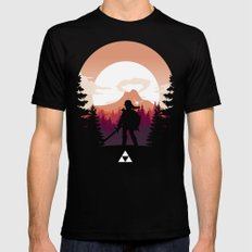 The Legend of Zelda - Orange Version Mens Fitted Tee Black SMALL