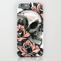 Skull and roses - tattoo iPhone 6 Slim Case
