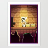 Pixel Art series 15 : Song Art Print