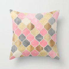 Silver Grey, Soft Pink, … Throw Pillow