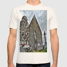 All Falls to Time Mens Fitted Tee Natural SMALL