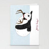 Festive Panda Stationery Cards
