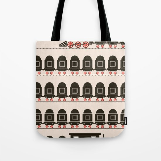 Stretched Out Locomotive  Tote Bag