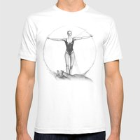 VITRUVIAN LADY Mens Fitted Tee White SMALL