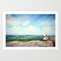 On Ilkley Moor Bah Tat Art Print