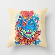 The Siberian Monarch Throw Pillow
