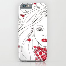 Flowers Girl in Red iPhone 6s Slim Case