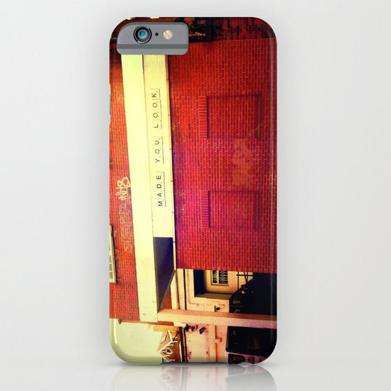 Made you look! iPhone & iPod Case