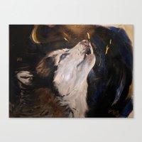 Howling Husky Canvas Print
