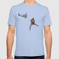 MJ50 Mens Fitted Tee Tri-Blue SMALL