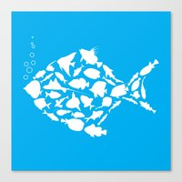 Fish are friends..... Canvas Print