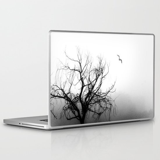 Tree in Fog Laptop & iPad Skin