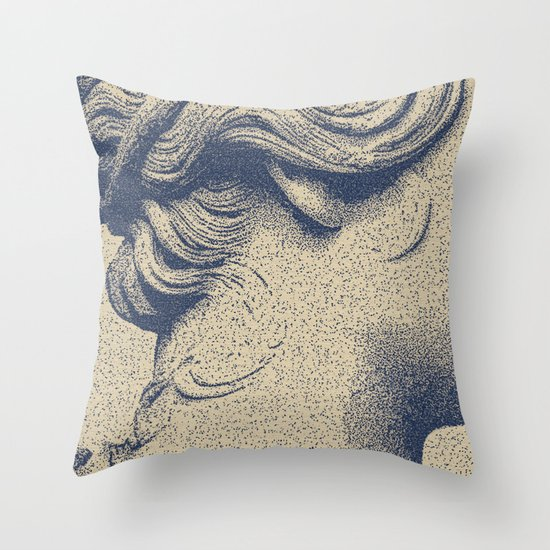 ink on paper Throw Pillow