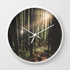Sun in the Rainforest Wall Clock