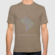 DC map Mens Fitted Tee Tri-Coffee SMALL