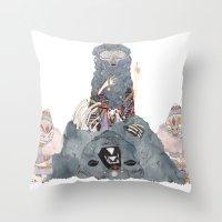 The Spirit Bear Throw Pillow