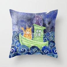 The Owl & The Pussycat Throw Pillow