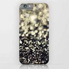 Black and Silver Glitter iPhone 6 Slim Case