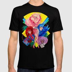 Jem and the Holograms Mens Fitted Tee Black SMALL