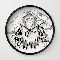 In the shadow of Man Wall Clock