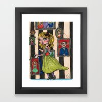 Pogo Stick Girl Framed Art Print